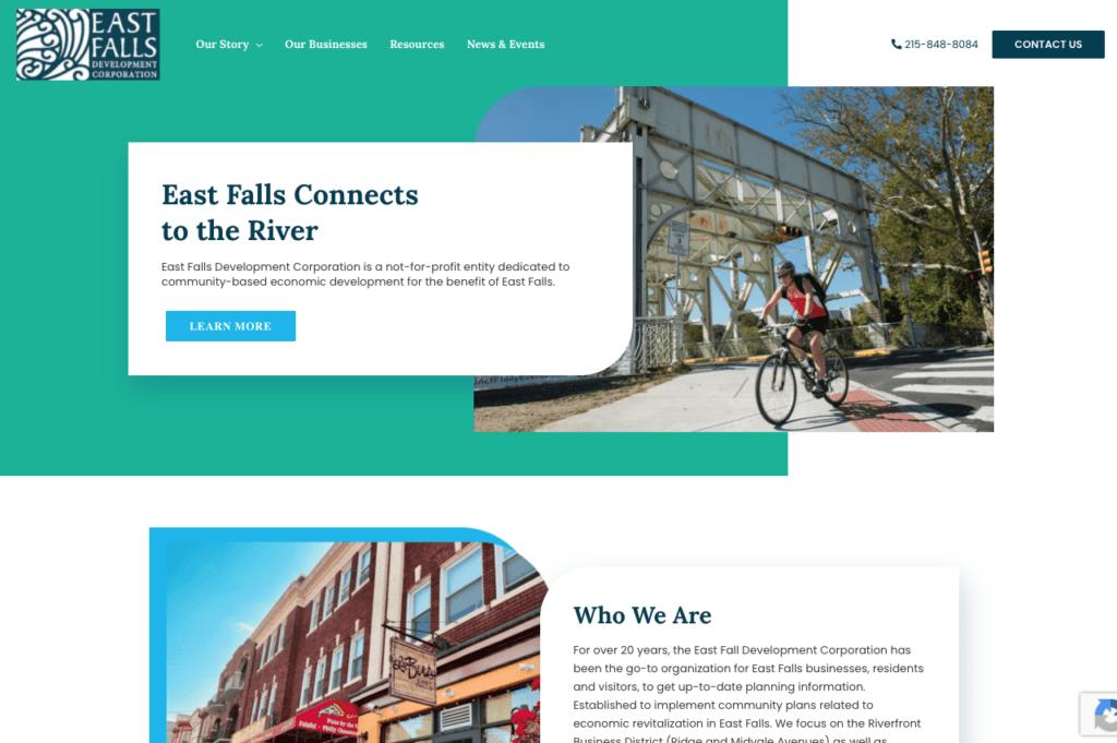 Fun website design for business development organization